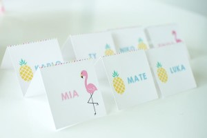 Name Cards from a Let's Flamingle! Flamingo Birthday Bash via Kara's Party Ideas | KarasPartyIdeas.com | The Place for All Things Party! (18)