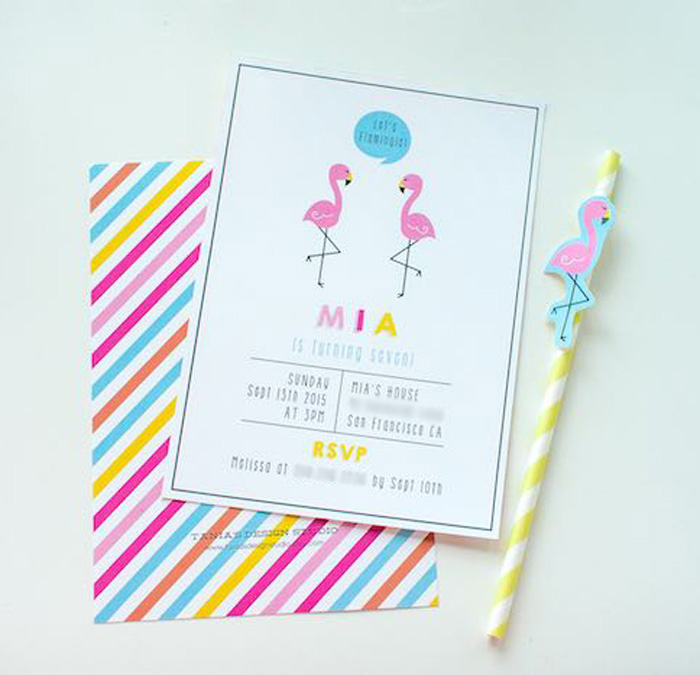 Invitation from a Let's Flamingle! Flamingo Birthday Bash via Kara's Party Ideas | KarasPartyIdeas.com | The Place for All Things Party! (11)