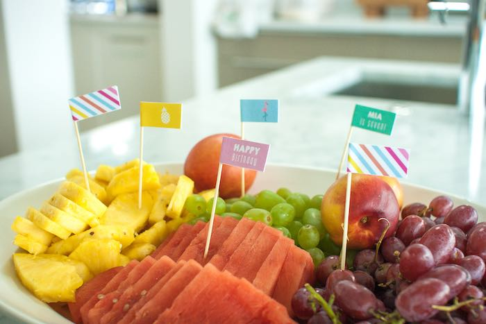 Fruit Tray from a Let's Flamingle! Flamingo Birthday Bash via Kara's Party Ideas | KarasPartyIdeas.com | The Place for All Things Party! (9)