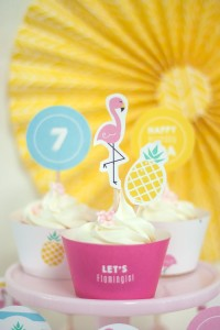 Cupcakes from a Let's Flamingle! Flamingo Birthday Bash via Kara's Party Ideas | KarasPartyIdeas.com | The Place for All Things Party! (36)