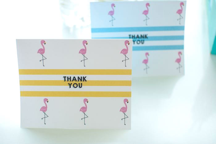 Thank You Cards from a Let's Flamingle! Flamingo Birthday Bash via Kara's Party Ideas | KarasPartyIdeas.com | The Place for All Things Party! (7)