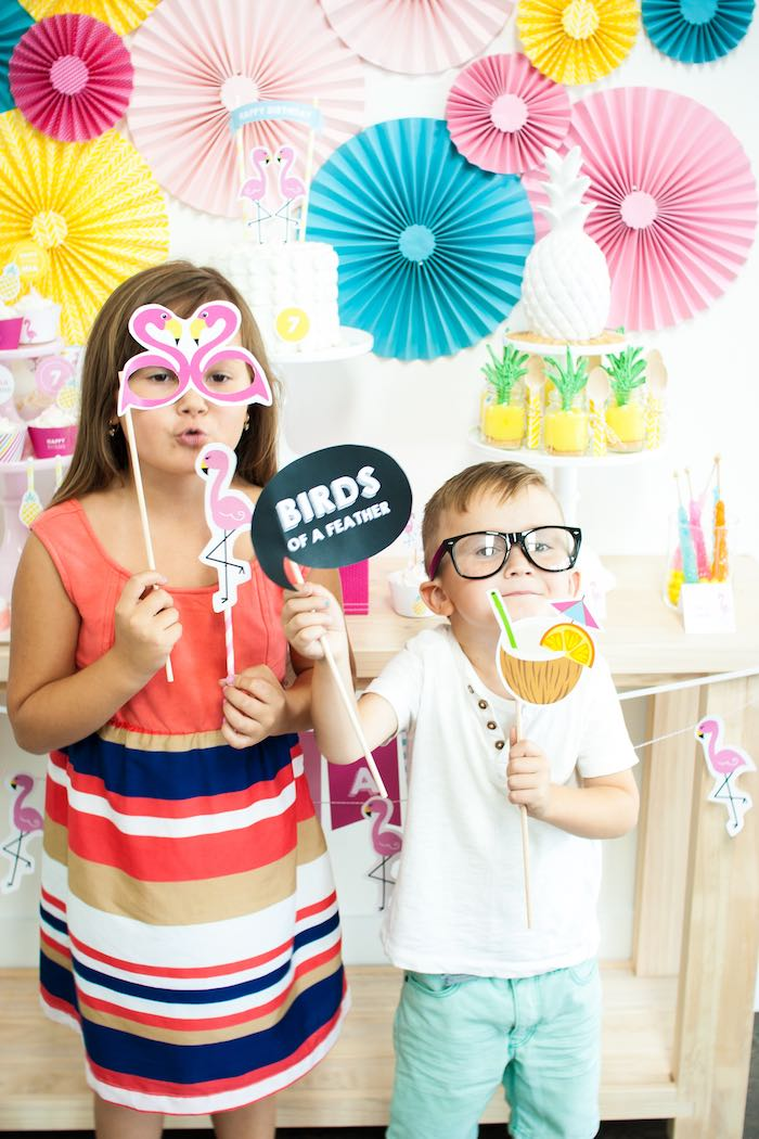 Photo Op from a Let's Flamingle! Flamingo Birthday Bash via Kara's Party Ideas | KarasPartyIdeas.com | The Place for All Things Party! (6)