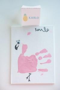 Handprint Flamingo from a Let's Flamingle! Flamingo Birthday Bash via Kara's Party Ideas   KarasPartyIdeas.com   The Place for All Things Party! (4)