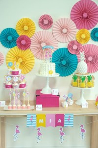 Sweet Table from a Let's Flamingle! Flamingo Birthday Bash via Kara's Party Ideas | KarasPartyIdeas.com | The Place for All Things Party! (2)