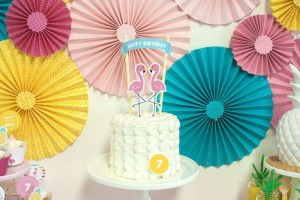 Petal Cake from a Let's Flamingle! Flamingo Birthday Bash via Kara's Party Ideas | KarasPartyIdeas.com | The Place for All Things Party! (29)