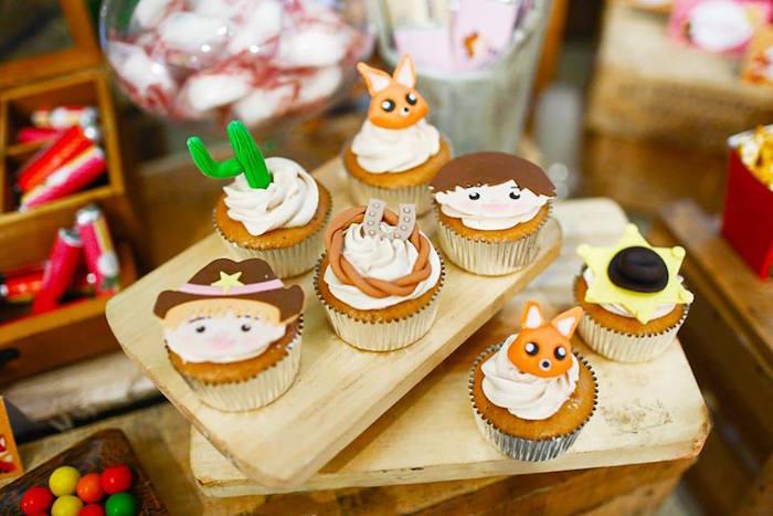 Cupcakes from a Little Cowboy Birthday Party via Kara's Party Ideas | KarasPartyIdeas.com (19)