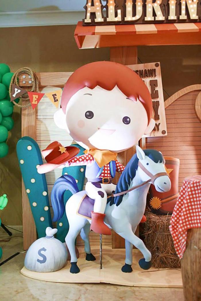 Cowboy & his Horse from a Little Cowboy Birthday Party via Kara's Party Ideas | KarasPartyIdeas.com (6)