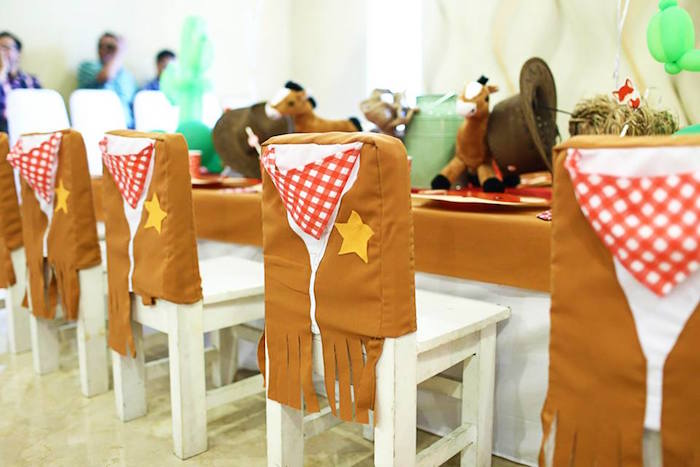 Chairs from a Little Cowboy Birthday Party via Kara's Party Ideas | KarasPartyIdeas.com (23)
