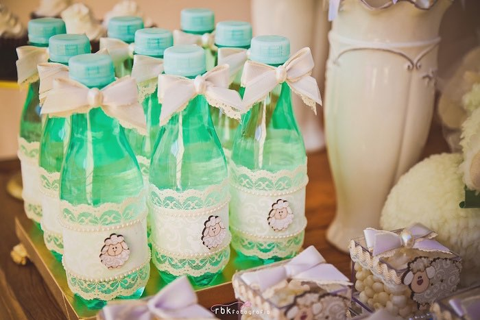 Drinks from a Little Lamb Baby Shower via Kara's Party Ideas | KarasPartyIdeas.com (24)