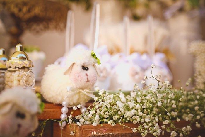 Lamb + Florals from a Little Lamb Baby Shower via Kara's Party Ideas | KarasPartyIdeas.com (20)
