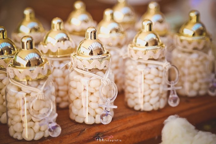 Baby Bottle Favors from a Little Lamb Baby Shower via Kara's Party Ideas | KarasPartyIdeas.com (19)
