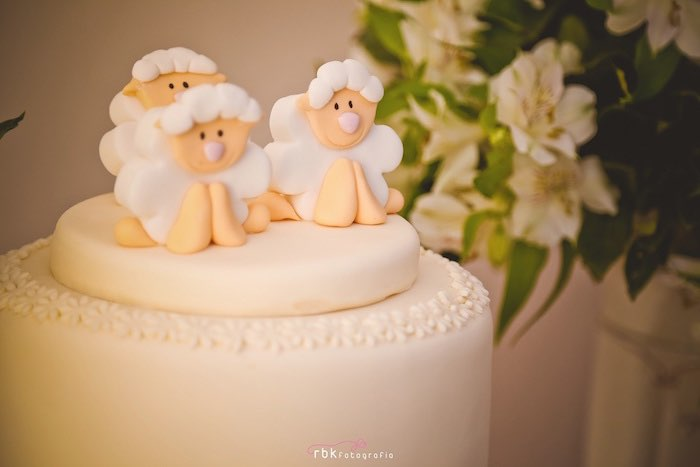Cake from a Little Lamb Baby Shower via Kara's Party Ideas | KarasPartyIdeas.com (18)