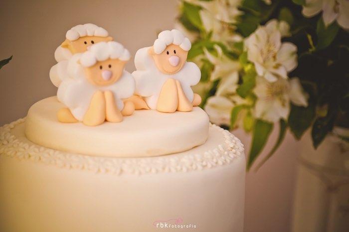 Cake from a Little Lamb Baby Shower via Kara's Party Ideas | KarasPartyIdeas.com (18)
