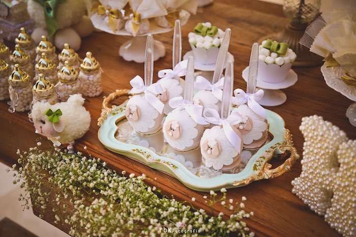 Sweets + Decor from a Little Lamb Baby Shower via Kara's Party Ideas | KarasPartyIdeas.com (16)