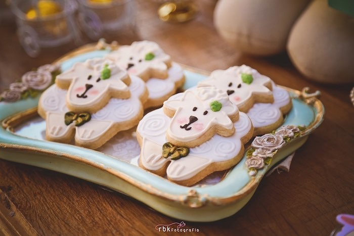 Lamb Cookies from a Little Lamb Baby Shower via Kara's Party Ideas | KarasPartyIdeas.com (12)