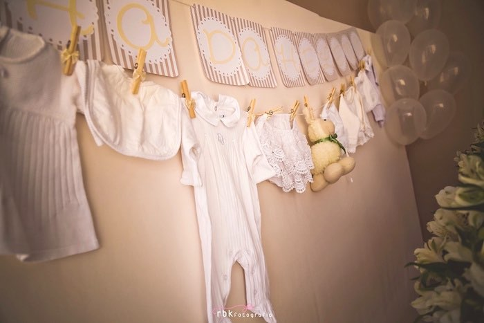 Bunting from a Little Lamb Baby Shower via Kara's Party Ideas | KarasPartyIdeas.com (10)