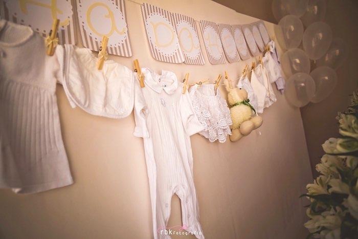 Bunting from a Little Lamb Baby Shower via Kara's Party Ideas | KarasPartyIdeas.com (10)