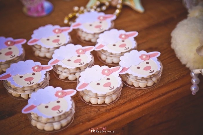 Lamb Favors from a Little Lamb Baby Shower via Kara's Party Ideas | KarasPartyIdeas.com (5)