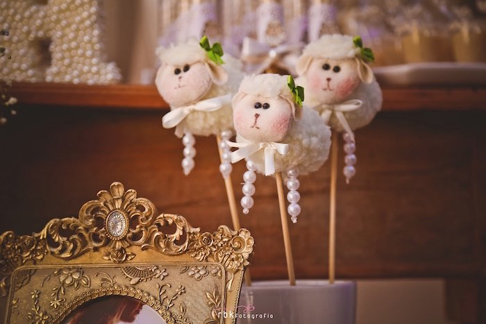 Lambs on Sticks from a Little Lamb Baby Shower via Kara's Party Ideas | KarasPartyIdeas.com (32)