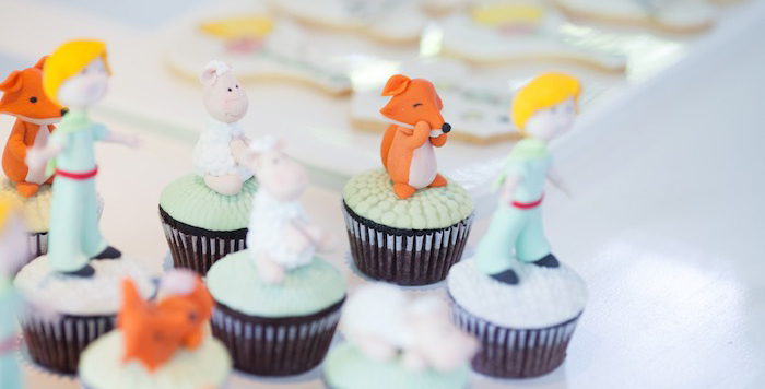Cupcakes from a Little Prince Inspired Baptism Party via Kara's Party Ideas KarasPartyIdeas.com (1)