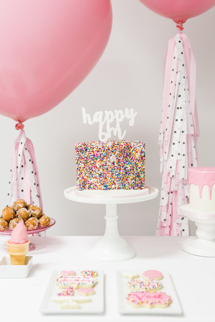 Cake Table from a Little Sprinkles Birthday Party via Kara's Party Ideas | KarasPartyIdeas.com | The Place for All Things Party! (18)