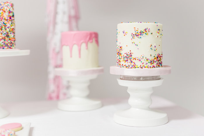 Cakes from a Little Sprinkles Birthday Party via Kara's Party Ideas | KarasPartyIdeas.com | The Place for All Things Party! (17)