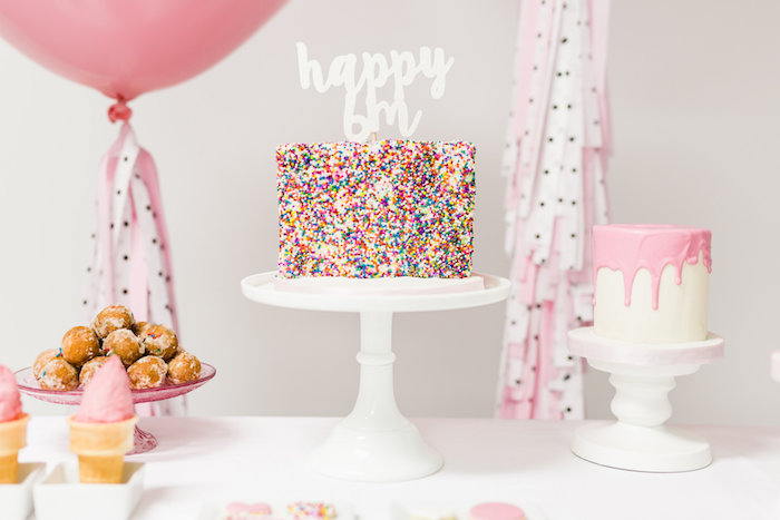 Cake from a Little Sprinkles Birthday Party via Kara's Party Ideas | KarasPartyIdeas.com | The Place for All Things Party! (16)
