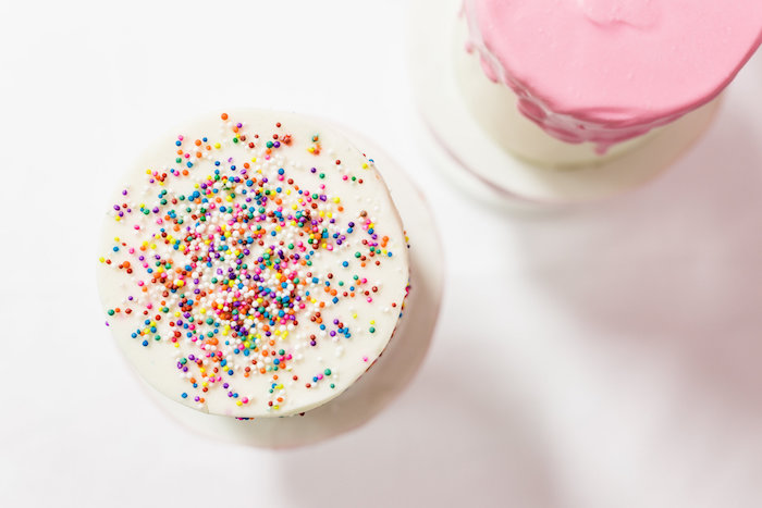 Tops of Cakes from a Little Sprinkles Birthday Party via Kara's Party Ideas | KarasPartyIdeas.com | The Place for All Things Party! (12)