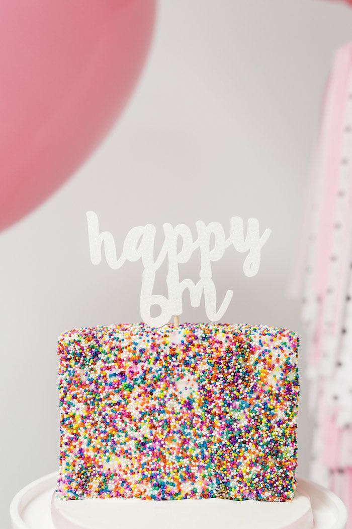 Cake from a Little Sprinkles Birthday Party via Kara's Party Ideas | KarasPartyIdeas.com | The Place for All Things Party! (11)