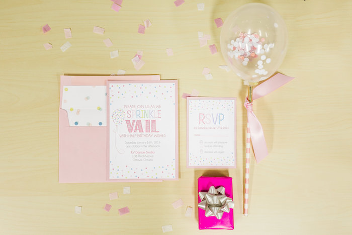 Invitation from a Little Sprinkles Birthday Party via Kara's Party Ideas | KarasPartyIdeas.com | The Place for All Things Party! (10)