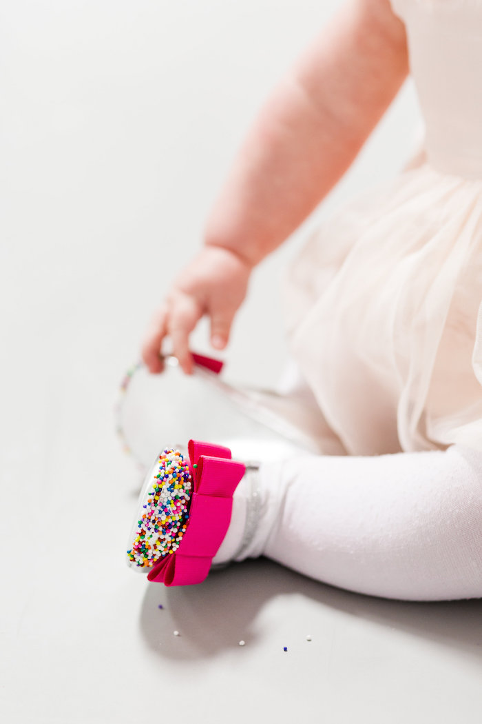 Sprinkle Toes from a Little Sprinkles Birthday Party via Kara's Party Ideas | KarasPartyIdeas.com | The Place for All Things Party! (5)