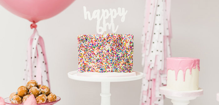 Cake from a Little Sprinkles Birthday Party via Kara's Party Ideas | KarasPartyIdeas.com | The Place for All Things Party! (1)