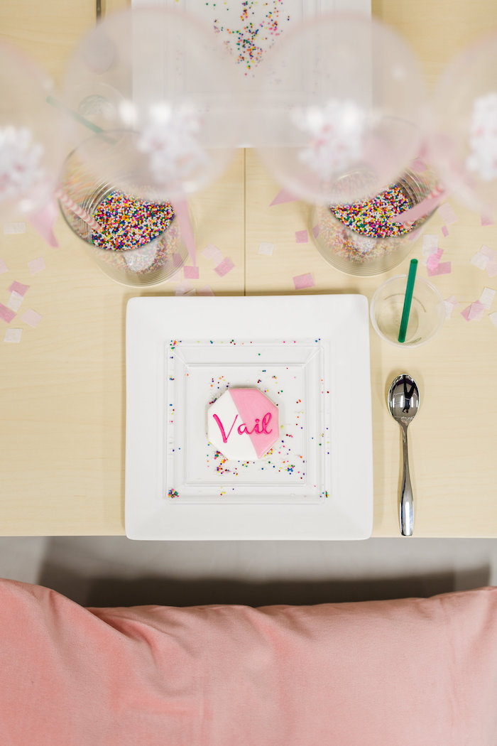 Place Setting from a Little Sprinkles Birthday Party via Kara's Party Ideas | KarasPartyIdeas.com | The Place for All Things Party! (26)