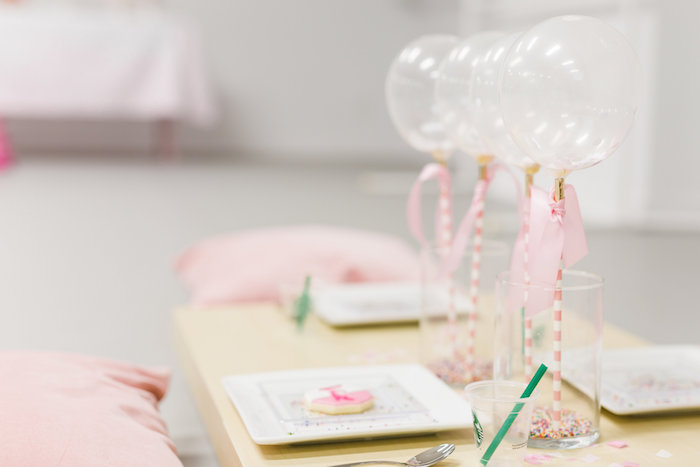 Guest Table from a Little Sprinkles Birthday Party via Kara's Party Ideas | KarasPartyIdeas.com | The Place for All Things Party! (25)