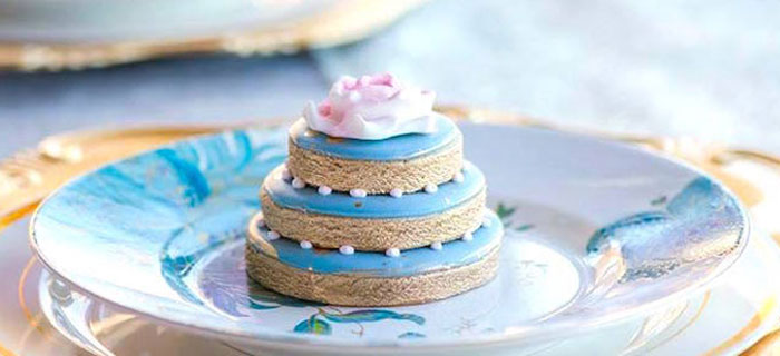 Cookie Tower imitating a Mini Cake from a Marie AntONEette Inspired 1st Birthday Party via Kara's Party Ideas KarasPartyIdeas.com (1)
