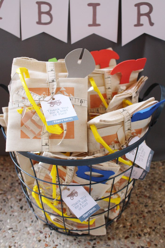 Favor Pack from a Modern Construction Birthday Party via Kara's Party Ideas | KarasPartyIdeas.com The Place for All Things Party! (25)