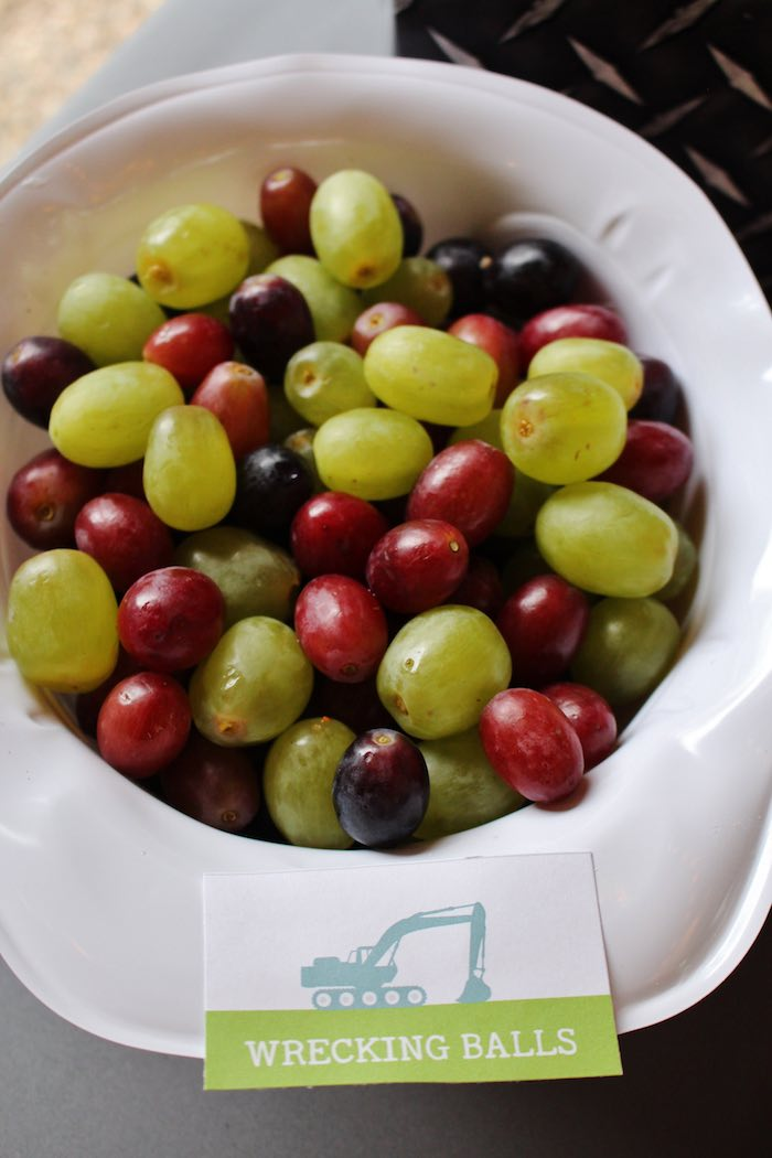 Wrecking Ball Grapes from a Modern Construction Birthday Party via Kara's Party Ideas | KarasPartyIdeas.com The Place for All Things Party! (23)