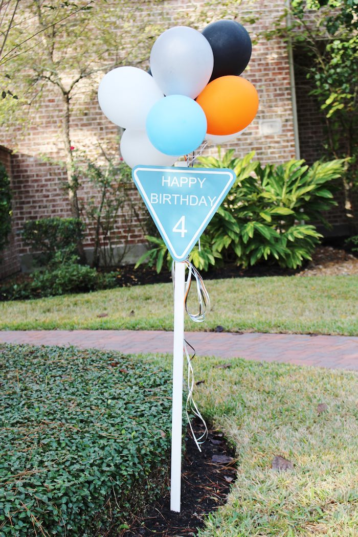 Entrance Sign from a Modern Construction Birthday Party via Kara's Party Ideas | KarasPartyIdeas.com The Place for All Things Party! (5)