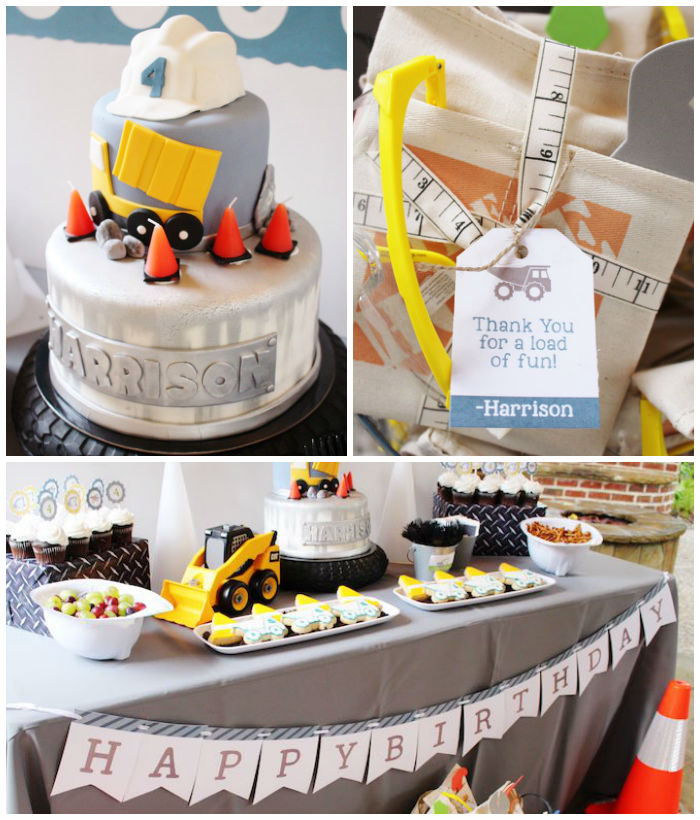 Modern Construction Birthday Party via Kara's Party Ideas | KarasPartyIdeas.com The Place for All Things Party! (3)
