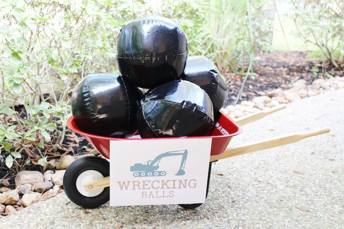 Wrecking Ball Activity from a Modern Construction Birthday Party via Kara's Party Ideas | KarasPartyIdeas.com The Place for All Things Party! (31)