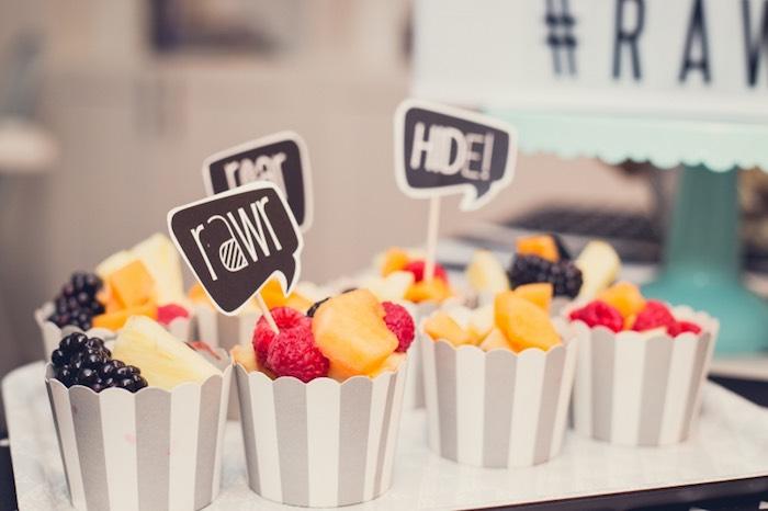 Fruit Cups from a Modern Geometric Monster Party via Kara's Party Ideas KarasPartyIdeas.com (7)