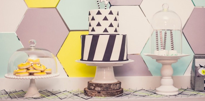 Sweet Table from a Modern Geometric Monster Party via Kara's Party Ideas KarasPartyIdeas.com (1)