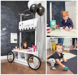 """Eye -Scream"" Ice Cream Cart from aModern Geometric Monster Party via Kara's Party Ideas KarasPartyIdeas.com (11)"