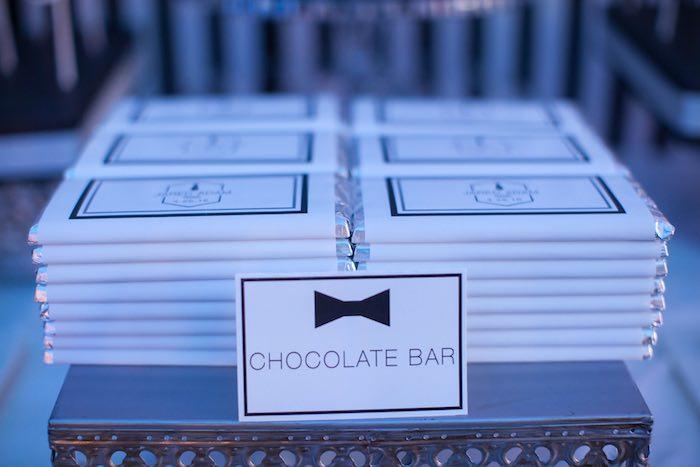 Chocolate Bars from a Monochromatic Little Man Birthday Party via Kara's Party Ideas KarasPartyIdeas.com (20)