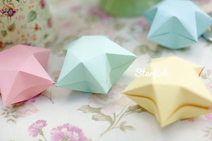 Star Favor Box Centerpieces from a Pastel Girly Wonderland + Rainbow Birthday Party via Kara's Party Ideas KarasPartyIdeas.com (22)