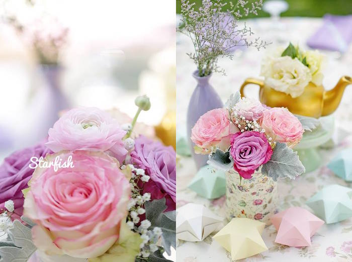 Florals from a Pastel Girly Wonderland + Rainbow Birthday Party via Kara's Party Ideas KarasPartyIdeas.com (21)