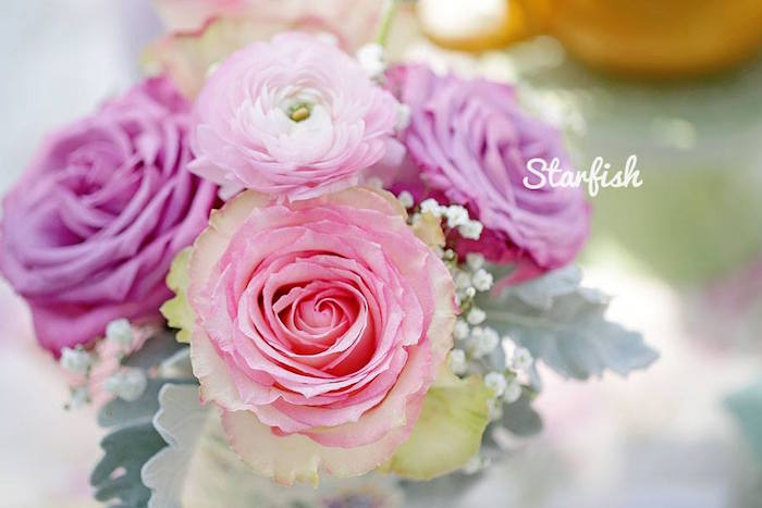 Florals from a Pastel Girly Wonderland + Rainbow Birthday Party via Kara's Party Ideas KarasPartyIdeas.com (20)