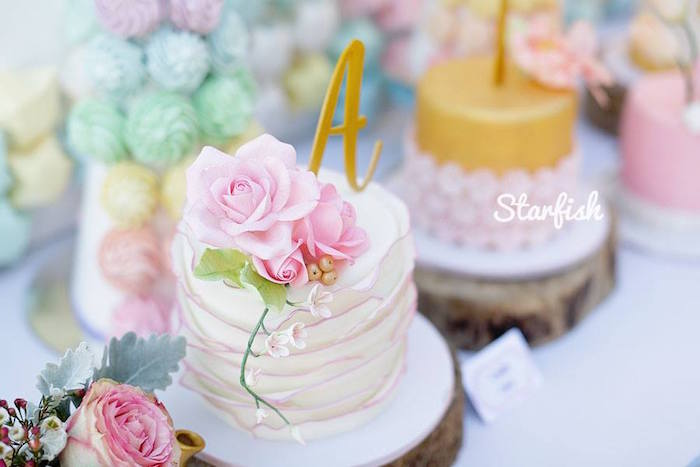 Cake from a Pastel Girly Wonderland + Rainbow Birthday Party via Kara's Party Ideas KarasPartyIdeas.com (19)