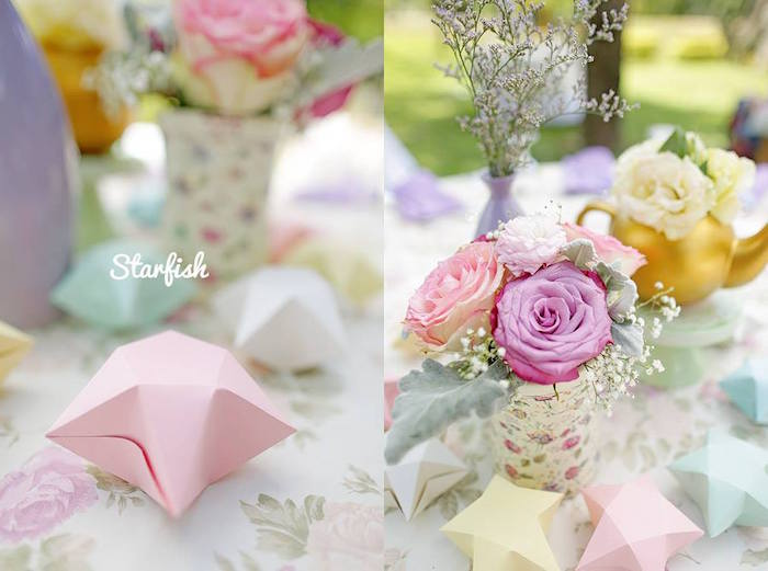 Centerpieces from a Pastel Girly Wonderland + Rainbow Birthday Party via Kara's Party Ideas KarasPartyIdeas.com (37)