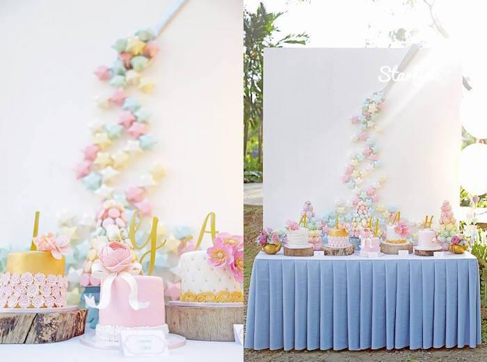 Sweet Table from a Pastel Girly Wonderland + Rainbow Birthday Party via Kara's Party Ideas KarasPartyIdeas.com (17)